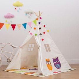 Teepee Tent Including Mat – Owl