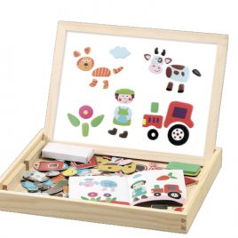 Magnetic Wooden Puzzle Activity Box