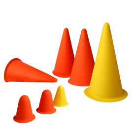 Training Rubber Cone 250mm – 6 Pcs Set
