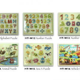 Wooden Puzzles – 6 Pcs Set