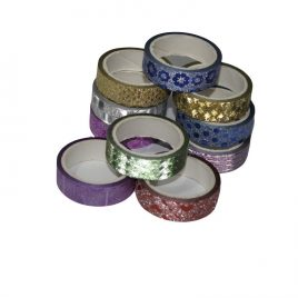 Decorative glitter tape for arts and crafts-10 Pcs set