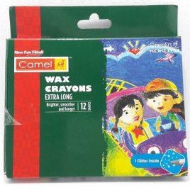 Camel Wax Crayon Extra Long 12 Pcs Set